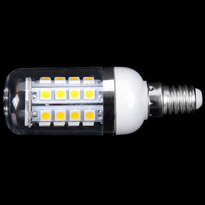 E14 3W 36 x 5050 SMD LED AC85 - 265V Warm White Corn Lamp with Transparent Lamp Shade