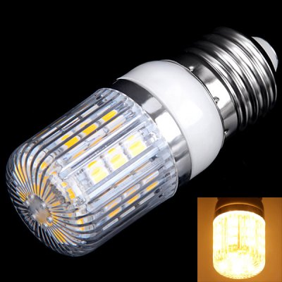 E27 3W 30 x 5050 SMD LED AC85 - 265V Warm White Corn Lamp with Stripe Lamp Shade