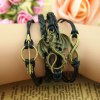 Retro Style Pterosaur Embellished Colored Knitted Multilayered Charm Bracelet For Women