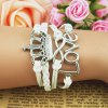 Chic Crown and Letter Embellished Knitted Multilayered Charm Bracelet For Women