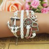 Anchor Helm Multilayered Charm Bracelet