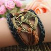 Vintage Arrow and Bird Embellished Knitted Charm Bracelet For Women