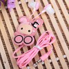 Stylish Anime Stereo Earphone with Sweet Bunny Feature Wire Bobbin Winder Clamp