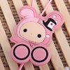 Stylish Anime Stereo Earphone with Sweet Bunny Feature Wire Bobbin Winder Clamp deal