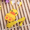 Stylish Anime Stereo Earphone with Cartoon Yellow Duck Feature Wire Bobbin Winder Clamp