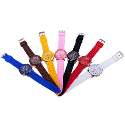7PCS WoMaGe Quartz Women Watch