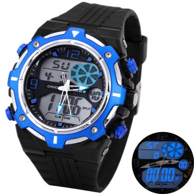 Oreex Quartz LED Watch with Dual Movt