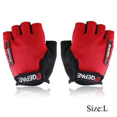 Cycling Bike Bicycle Gel Silicone Half Finger Gloves
