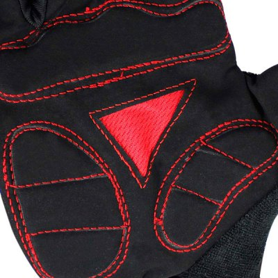 Фотография 2PCS Cool Skull Design L Size Bicycle Bike Silicone Half Finger Gloves Cycling Gloves