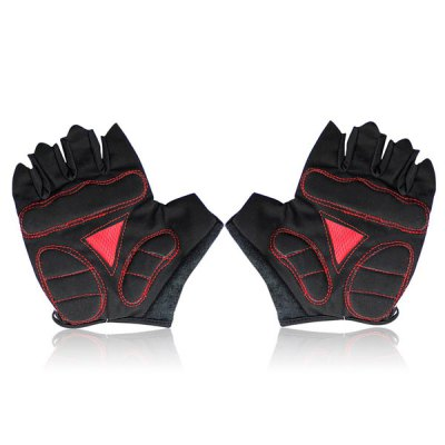 Фотография 2PCS Cool Skull Design XL Size Bicycle Bike Silicone Half Finger Gloves Cycling Gloves