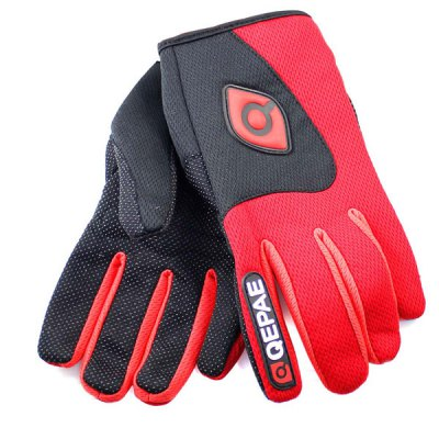 2PCS M Size Bicycle Bike Silicone Full Finger Gloves Cycling Gloves