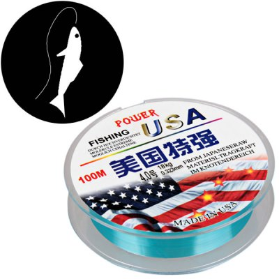 PE Braided Line Diameter 0.323mm Knot Strength 18kg 100m Fishing Line with Abrasion Resistant Design