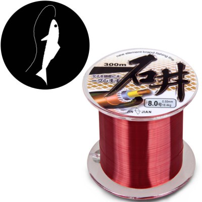 Powerful Diameter 0.50mm Knot Strength 18.4kg Abrasion Resistant 300m Fishing Line
