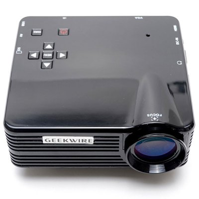 Geekwire LP - 5A 400 Lumens LED Lamp Type Portable LCD Projector 320 x 240 Native Resolution Support HDMI/VGA/USB/AV/SD (US Plug)