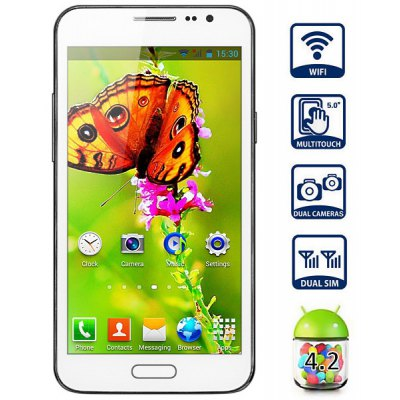 JIAKE G910 Android 4.2 Phablet Unlocked Phone with 5.0 inch WVGA Screen MTK6572 Dual Core Dual Camera