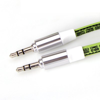 Гаджет   Printing Design 3.5mm to 3.5mm Male to Male Flat Audio Cable iPhone Cables & Adapters