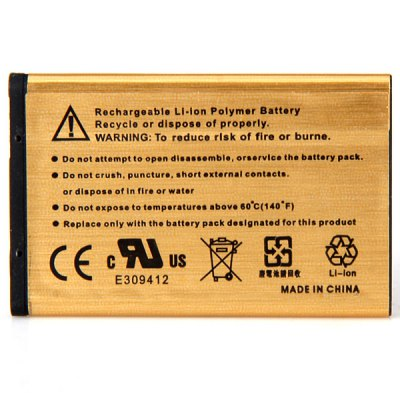 BL - 4C 3.7V 2450mAh Durable Extended Lithium - ion Gold Battery for Nokia 6100 / 6300