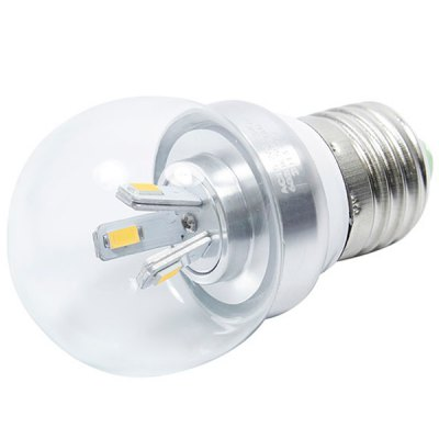 E27 300lm 3W 6 - SMD 5630 LED AC85 - 265V 2700K Warm White LED Ball Bulb
