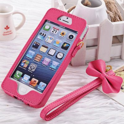 Princess Style PU Leather Protective Case Cover for iPhone 5 / 5S / 5C