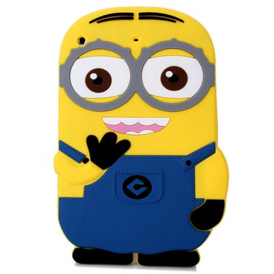 Гаджет   The Minion Pattern Silicone Material Protective Cover Case for iPad Mini 1 / 2 iPad Cases/Covers