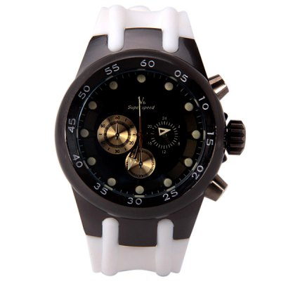 V6 Popular Men Watch Analog with Round Dial Soft Watch BandMens Watches<br>V6 Popular Men Watch Analog with Round Dial Soft Watch Band<br><br>Watches categories: Male table<br>Watch style: Fashion<br>Movement type: Quartz watch<br>Shape of the dial: Round<br>Display type: Pointer<br>Band material: Silica gel<br>Clasp type: Pin buckle<br>Special features: Decorating small three stitches<br>Waterproof: Life waterproof<br>The dial thickness: 1.8 cm/0.7 inch<br>The dial diameter: 4.2 cm/1.5 inch<br>Product weight: 0.145 kg<br>Product size (L x W x H): 27.0 x 4.2 x 1.8 cm/10.6 x 1.7 x 0.7 inches<br>Package Contents: 1 x Watch