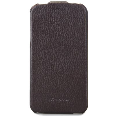 ФОТО Vertical Pattern Genuine Leather Material Protective Cover Case for iPhone 4 / 4S