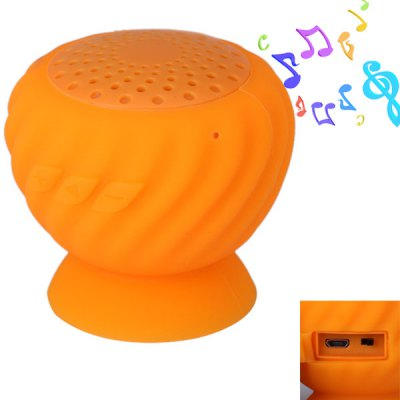 HLS - 01 Waterproof Sucker Wireless Bluetooth Speaker with Hands - free Call Function