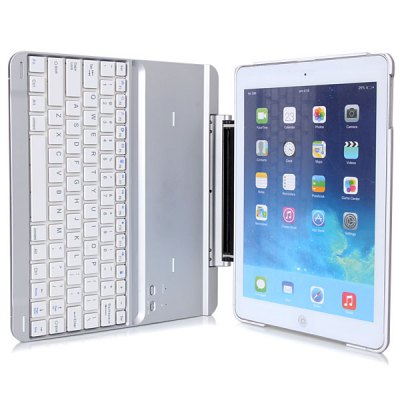 ФОТО Bluetooth 3.0 Metal Keyboard + Plastic Case with Stand Function for iPad Air ( iPad 5 )