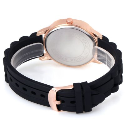Stylish Women Watch Analog with Diamonds Round Dial Silicone Watch BandWomens Watches<br>Stylish Women Watch Analog with Diamonds Round Dial Silicone Watch Band<br><br>Watches categories: Female table<br>Style : Diamond<br>Movement type: Quartz watch<br>Shape of the dial: Round<br>Case material: Stainless steel<br>Clasp type: Pin buckle<br>Special features: Decorating small three stitches<br>The dial thickness: 0.8 cm<br>The dial diameter: 4.1 cm<br>Product weight: 0.052 kg<br>Package weight: 0.102 kg<br>Product size (L x W x H) : 25.0 x 4.1 x 0.8 cm<br>Package size (L x W x H): 26.0 x 5.1 x 1.8 cm<br>Package contents: 1 x Watch
