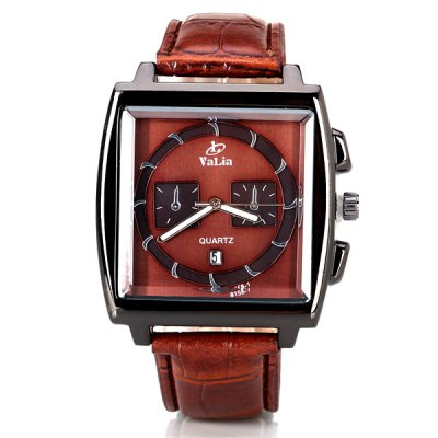 Unique Men Watch Analog with Date Square Dial Leather Watch BandMens Watches<br>Unique Men Watch Analog with Date Square Dial Leather Watch Band<br><br>Watches categories: Male table<br>Watch style: Fashion<br>Movement type: Quartz watch<br>Shape of the dial: Square<br>Display type: Pointer<br>Band material: Leather<br>Clasp type: Pin buckle<br>Special features: Decorating small two stitches<br>Waterproof: Life waterproof<br>The dial thickness: 1.0 cm/0.4 inch<br>The dial diameter: 4.2 cm/1.7 inch<br>Product weight: 0.058 kg<br>Product size (L x W x H): 24.3 x 4.2 x 1.0 cm/9.6 x 1.7 x 0.4 inches<br>Package Contents: 1 x Watch