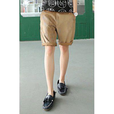 Fashion Style Solid Color Casual Simple Design Cotton Shorts For Men