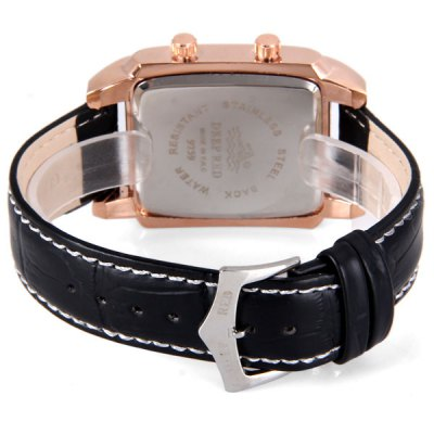 Luxury Waterproof Men Watch Analog with Double - movt Rectangle Dial Leather Watch BandMens Watches<br>Luxury Waterproof Men Watch Analog with Double - movt Rectangle Dial Leather Watch Band<br><br>Watches categories: Male table<br>Watch style: Fashion<br>Movement type: Quartz watch<br>Shape of the dial: Rectangle<br>Display type: Double show<br>Case material: Stainless steel<br>Band material: Stainless steel<br>Clasp type: Buckle<br>Water Resistance: Life waterproof<br>The dial thickness: 1.1 cm/0.4 inch<br>The dial diameter: 3.0 cm/1.2 inch<br>Product weight: 0.08 kg<br>Product size (L x W x H): 24.3 x 3.7 x 1.1 cm/9.6 x 1.5 x 0.4 inches<br>Package Contents: 1 x Watch