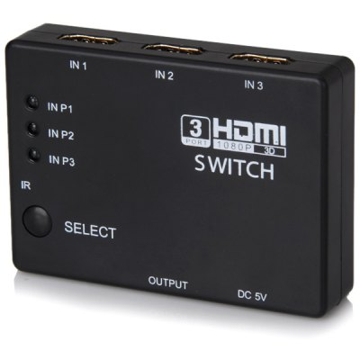3 Input 1 Output HDMI 1.4 Switcher with Kdy - press - switching Function