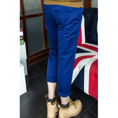 Гаджет   Fashion Slimming Simple Design Solid Color Polyester Nine Minutes Pants For Men Pants