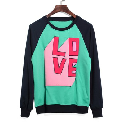 Гаджет   Casual Style Round Neck Color Block Letters Print Long Sleeves Polyester Sweatshirt For Men Hoodies