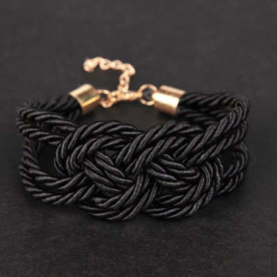 Vintage Fluorescence Color Woven Wrap Bracelet For Women