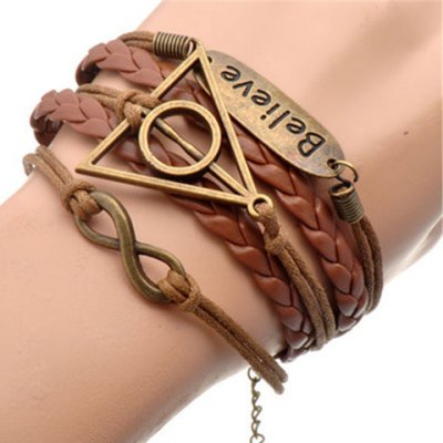 Infinity Triangle Multilayered Bracelet
