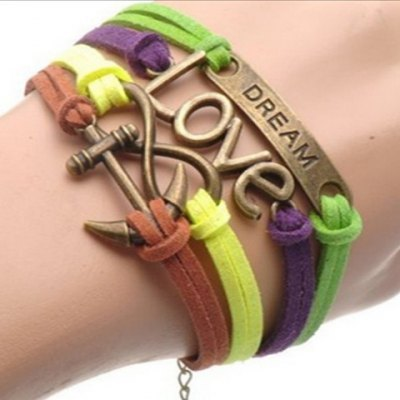 Chic Love Letter Anchor Eight Multielement Bracelet For Women