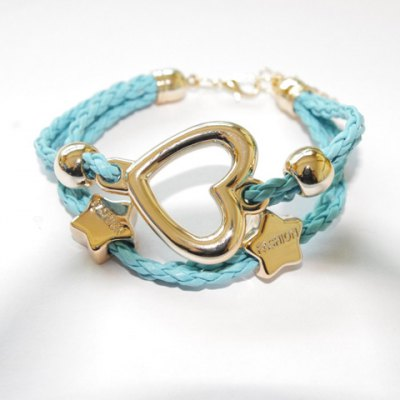 Cute Openwork Heart Weaved Bracelet For Women