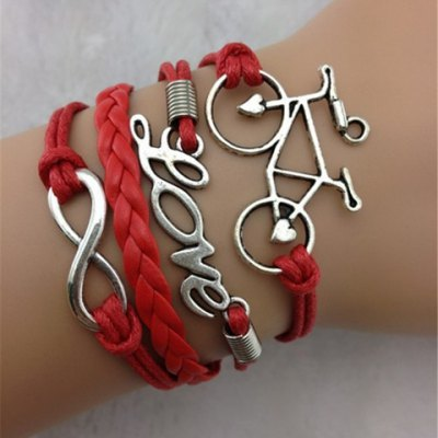 Stylish Letter Bicycle Layered Bracelet For Women