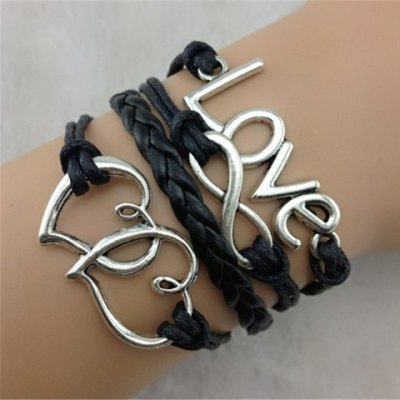 Stylish Love Heart Layered Bracelet For Women