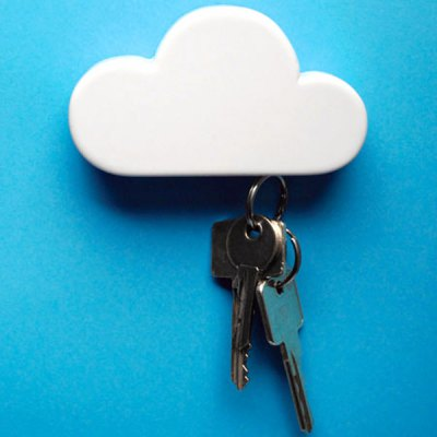Elegantly Simple Magnetic Cloud Design Key Holder
