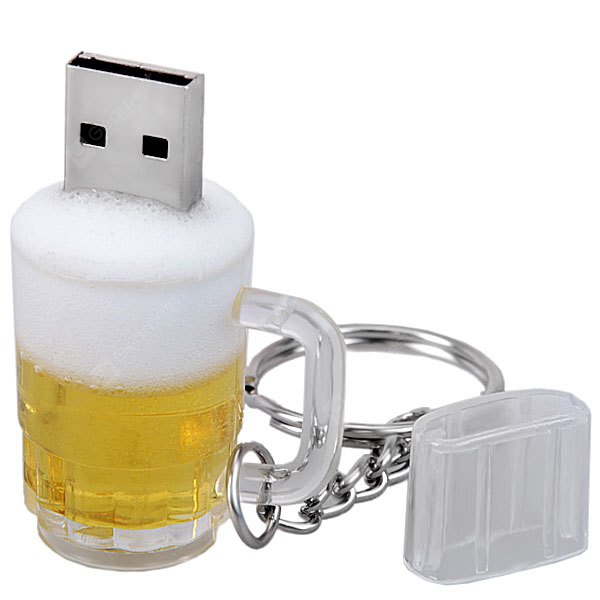 8GB USB 2.0 Beer Cup Design U Disk with Key Chain NU0227801