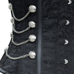 best Sexy Strapless Chains Decorated Lace Up Black Women's Corsets