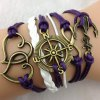 Infinity Heart Anchor Compass Multilayered Charm Bracelet