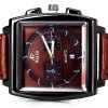 best Unique Men Watch Analog with Date Square Dial Leather Watch Band