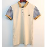cheap Trendy Color Block Turn-down Collar Stripes Short Sleeves Polyester Polo Shirt For Men
