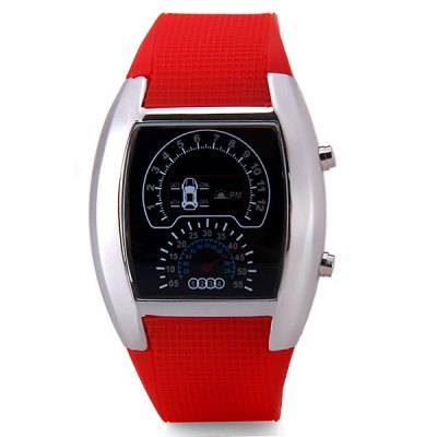 Гаджет   Fashion Digital Design LED Newest Car Watch with Day/Date Elliptical Dial and Rubber Band