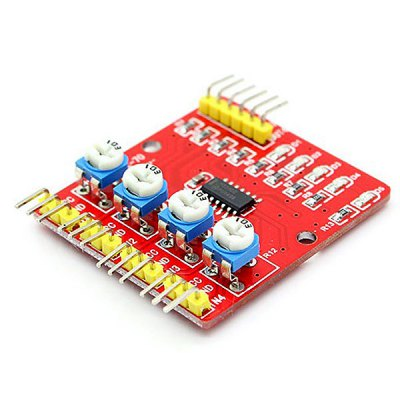 Гаджет   4 - Channel Infrared Line Tracking Sensor Module for Arduino 1mm~60cm Detection Range Other Accessories