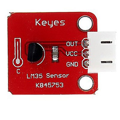 KEYES 3 - pin LM35 Temperature Sensor Module for Arduino with Dupont Cable (Red)